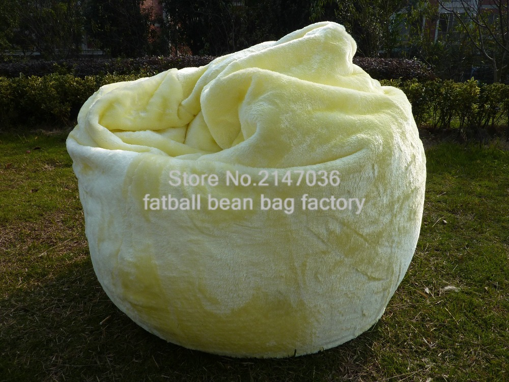 Living Room Furniture Luxury Lush & Soft Shaggy Alpaca Faur Fur Bean Bag Cover Short Fur Soft Comfort Beanbag Sitting Furniture