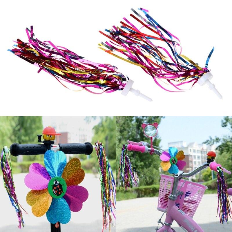 2x Child Kid Boy Girl Bicycle Bike Tricycle Handlebar Colorful Streamers Tassels
