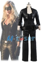 Green Arrow Black Canary Sara Lance Outfit Suit Halloween Carnival Cosplay Costumes For Adfult Women Custom Made