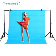 1.6X3M/5.2X9.8Ft Blue Shoot Screen PHOTO BACKGROUND Backdrop Non Woven Chroma key Background For Fotografia Photography Studio  new 10 20ft 3 6m chroma key blue solid seamless photography muslin backdrop studio background cloth