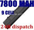 9 celdas 7800 mah batería del ordenador portátil para dell gw240 297 m911g rn873 ru586 xr693 para dell inspiron 1525 1526 1545x284g