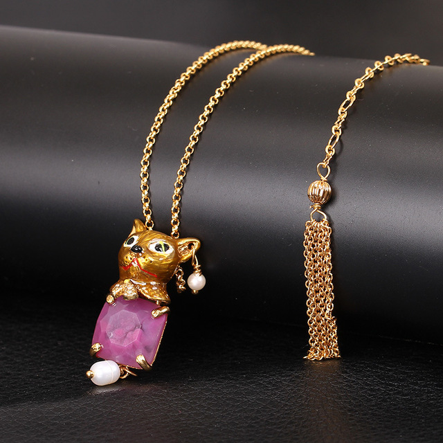 Puppy Kitten Jewel Gold-plated Bring Tail Chain Necklace New Arrivals Major Suit Jewelry Ornaments
