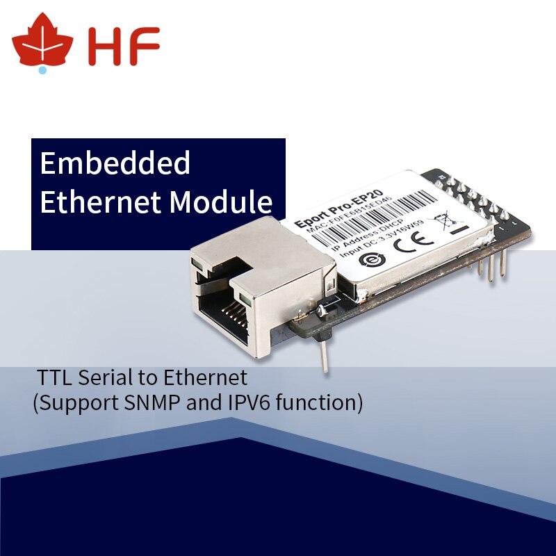 CE HF Eport Pro-EP20  Linux Network Server Port TTL Serial To Ethernet Embedded Module DHCP 3.3V TCP IP Telnet
