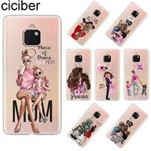 ciciber For Huawei Mate 20 Pro Lite X Back Cover Soft TPU Phone Cases 10 9 Super MaMa Mom Girls Coque Fundas