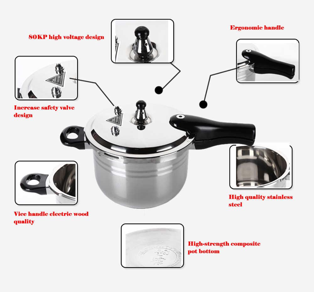 304 ステンレス鋼圧力鍋スープシチュー鍋調理器具キッチン調理軽商用汽船誘導ガスコンロ炊飯器