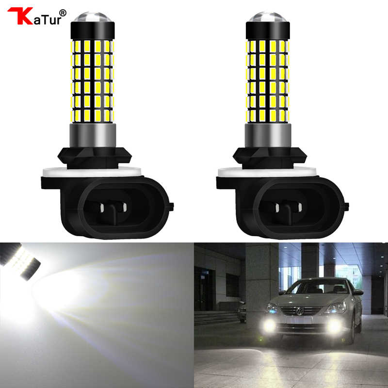 2 Pieces H27 881 Led Bulb For Cars H27W/2 H27W2 Auto Fog Light LED 780Lm 12V 881 LED Bulbs Driving Driving Running Light