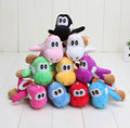 "12 colors 10pcs Soft Plush Super Mario Bros Yoshi Plush Anime 4"" Keychain yoshi keychain phone chain plush"