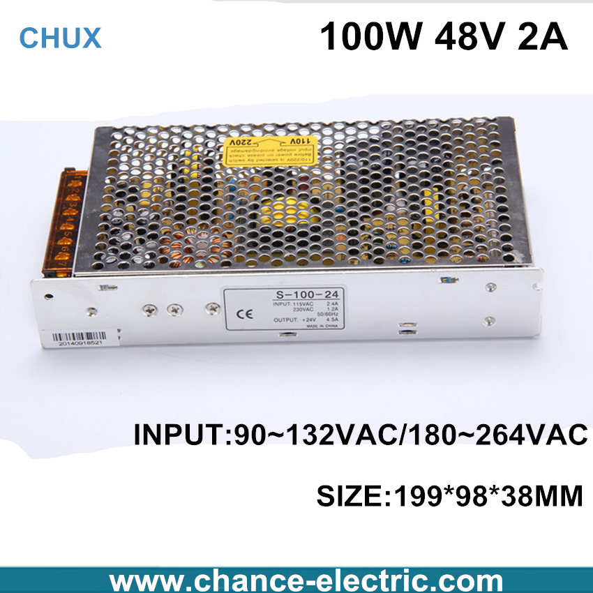 single output 100W dc Switching mode Power Supply LED industry 48V Factory Provide CE (S-100W-48v) Free Shipping