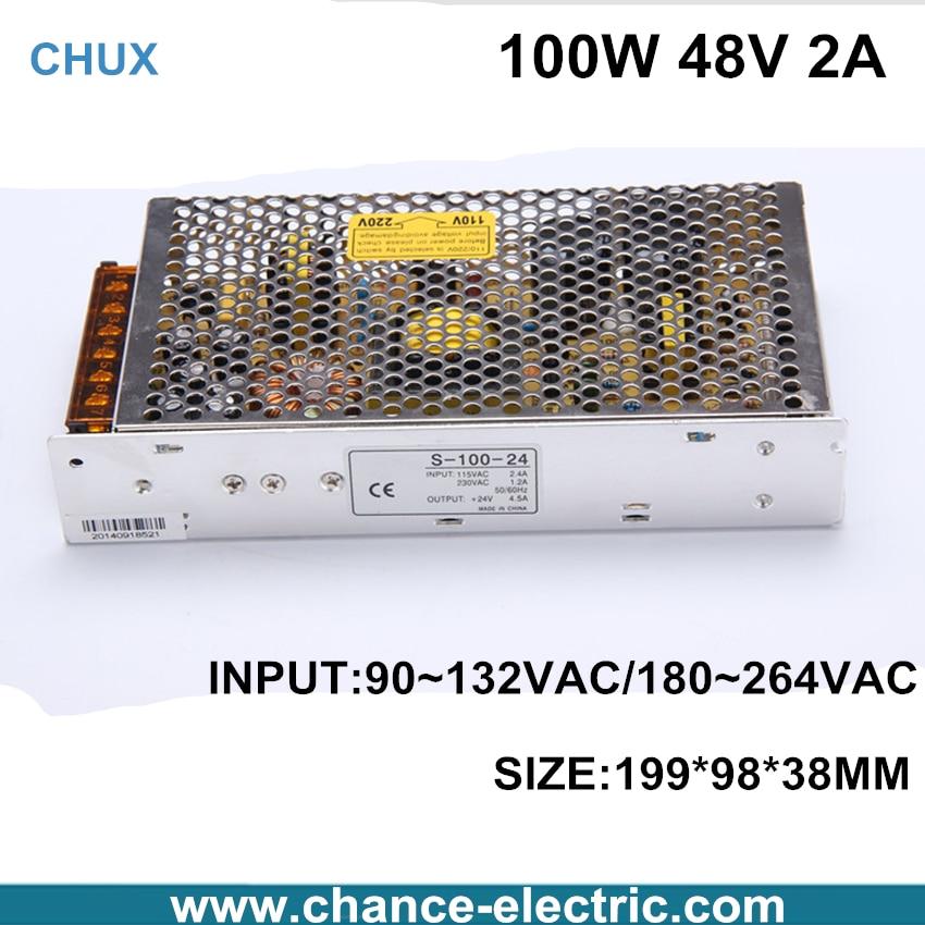 купить single output 100W dc Switching mode Power Supply LED industry 48V Factory Provide CE (S-100W-48v) Free Shipping недорого
