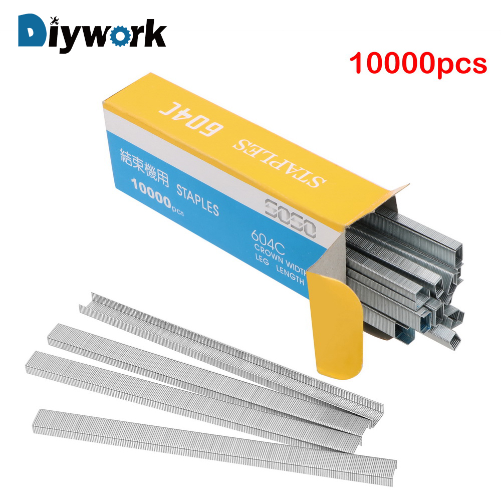 Amicable Diywork 10000pcs/set Stainless Steel Binding Supplies Door Shaped Staples Branch Machine For Nail Gun Garden Tools Tape Tool An Enriches And Nutrient For The Liver And Kidney Hand Tool Sets Tool Sets