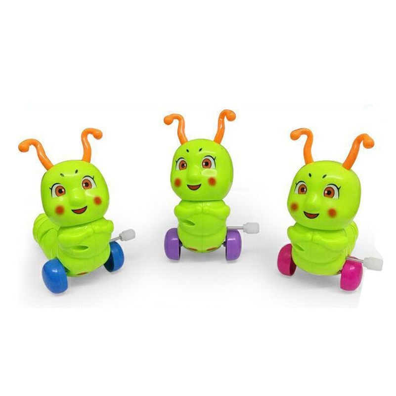 Image 3 - BalleenShiny Mini Baby Clockwork Spring Toys Kids Developmental Educational Colorful Wind up Fun Intelligence Toys Random Color-in Baby Rattles & Mobiles from Toys & Hobbies