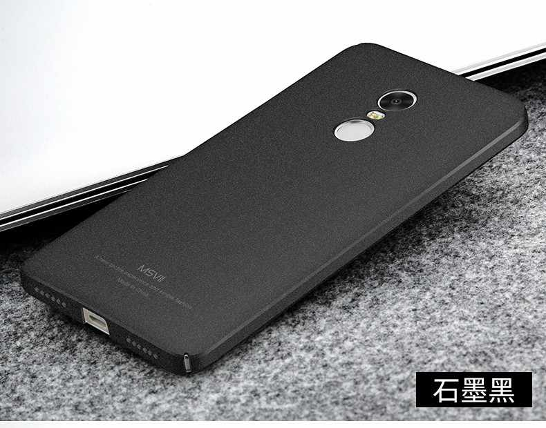 "100% Original Caso MSVII luxo para Xiaomi redmi note 4 prime scrub rígido PC tampa Traseira Para xiomi redmi note 4 casos pro 5.5"""