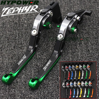 For Kawasaki Zephyr 750 1991 1997 1992 1993 1994 16 Colors Adjustable Folding Extendable Motorcycle CNC Brake Clutch Levers