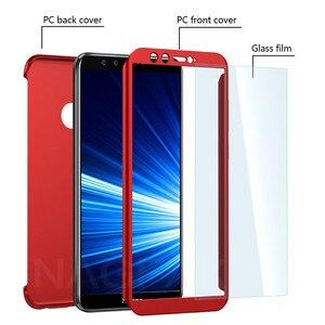 Image 3 - Защитный чехол, из закаленного стекла с полным покрытием для Huawei Honor 9/9 Lite/8X Max/7A/7C Pro