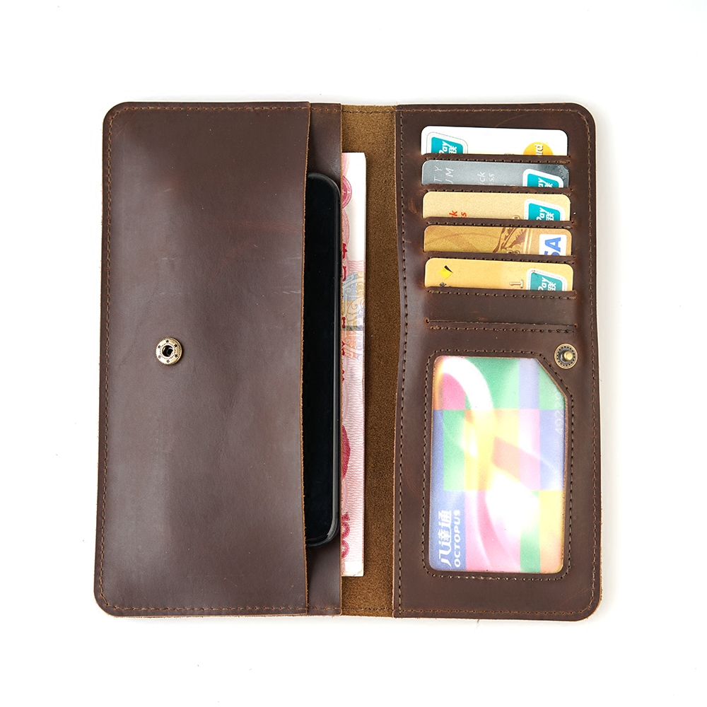 Multifunctional Travel Genuine Leather Card Wallet Purse