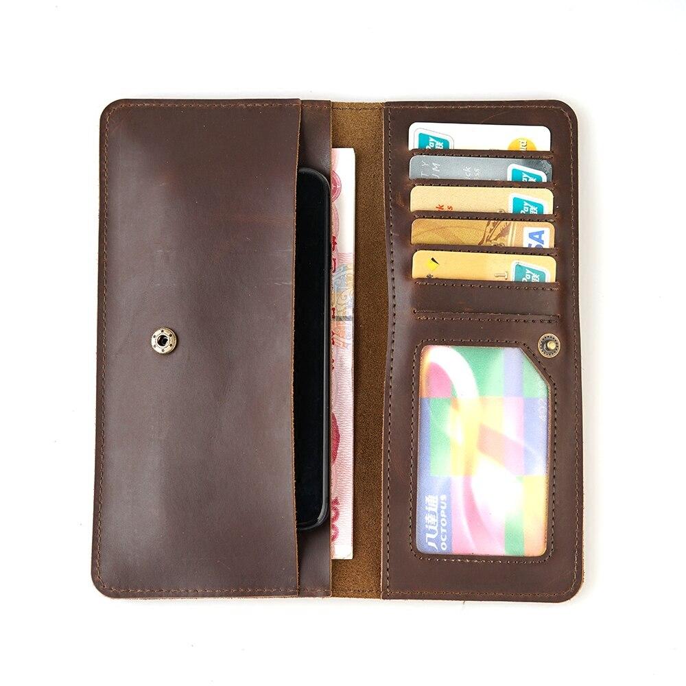 Multifunktionale Reise Echtem Leder Karte Geldbörse