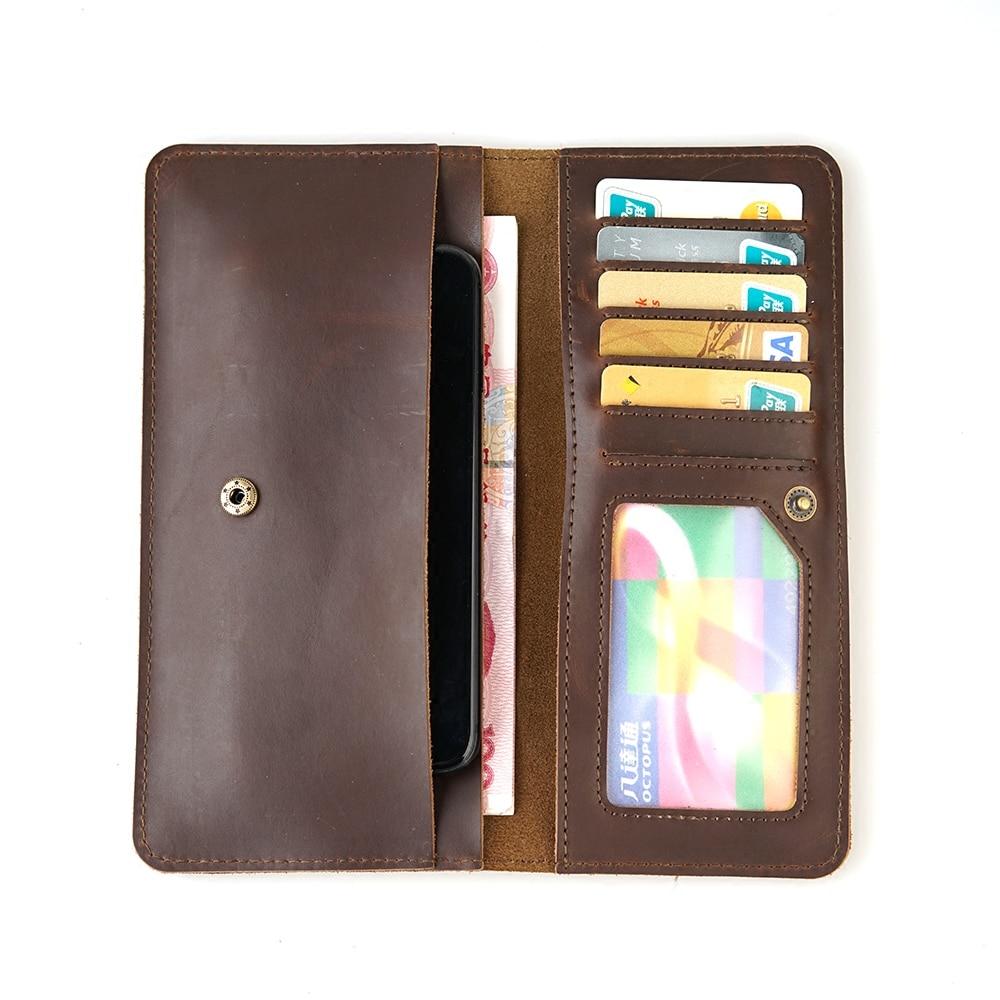 Viajes multifuncional cuero genuino tarjeta monedero de la cartera