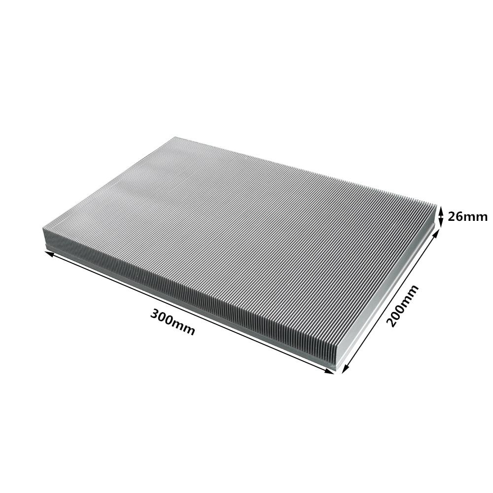 300x200x26mm en aluminium dissipateur de chaleur aileron radiateur grand radiateur pour LED électronique LCD amplificateur de puissance refroidisseur de refroidissement
