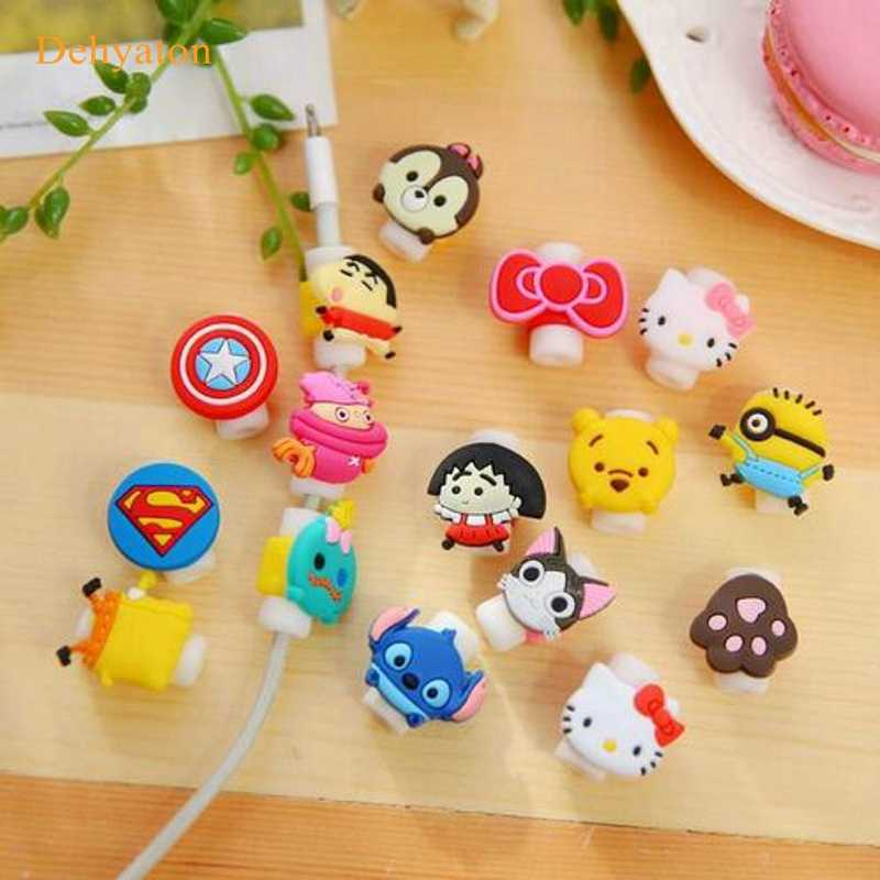 Dehyaton Cartoon Cable Organizer Spoelopwinder Protector Draad Cord Management Houder Cover Voor Koptelefoon iPhone Sansung MP3 USB