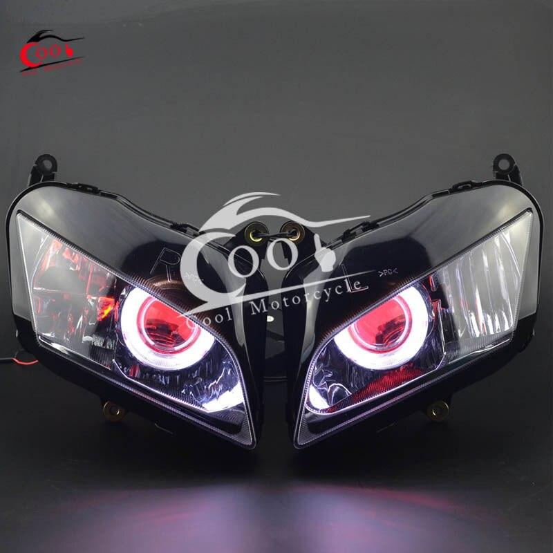 Fully Assembly Headlight HID Blue Demon Angel Eyes for Honda CBR1000 2008-2011
