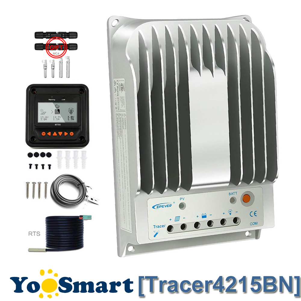 EPever 40A MPPT Solar Charge Controller 12V 24V 150V Max Input Voltage With LCD Remote Meter