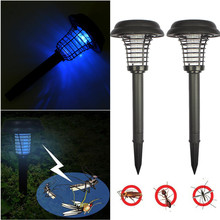 Solar Powered LED Light Mosquito Pest Bug Zapper Insect Killer Lamps Garden Lawn Mosquito Pest Bug Zapper Insect Killer Lamp New
