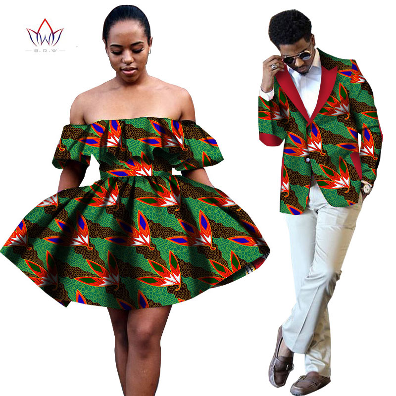 African Print Fashion: Summer Women Dresses And Men's Blazer Ankara Women African