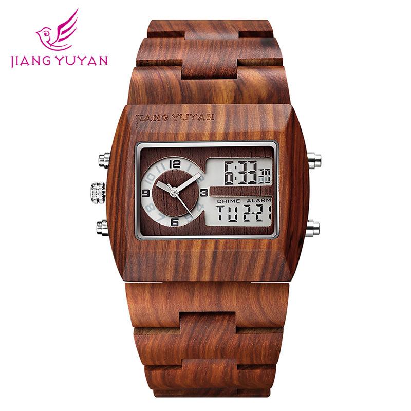 Natural Sandalwood Watch Men Luxury Brand Antique Wood Watches Date Quartz Analog Digital LED Wristwatch Gift His reloje Relogio natural bamboo watch men casual watches male analog quartz soft genuine leather strap antique wood wristwatch gift reloje hombre