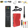 Caliente mini tamaño full hd 1080 p receptor de satélite cccam dvb-s2 s Powe vu Decodificador Tv Youporn PVR Grabador + USB Wifi Dongle