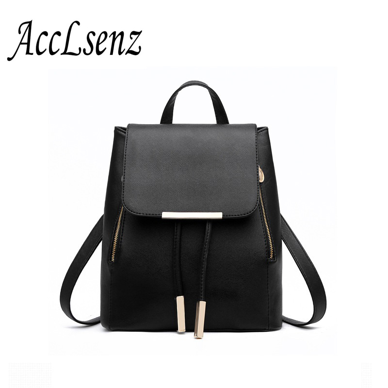 Fashion Women Backpack 2017 High Quality PU Leather Backpacks School Bag Student Backpack Women Bags Shoulder Bag