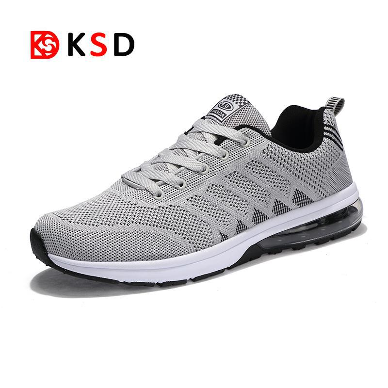 New Running Shoes For Men Air Cushion Shock Absorption Sports Sneaker Light Outdoor Walking Jogging Shoes Athletic Shoes 47 48 summer breathable air cushion fly line sports women running shoes shock absorption increase tourism shoes spring female sneakers