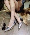 2014 para za r tacones delgados de color rojo zapatos de tacón alto sexy boca baja con los zapatos de las mujeres señalaron toe zapatos de un solo resorte ol sola
