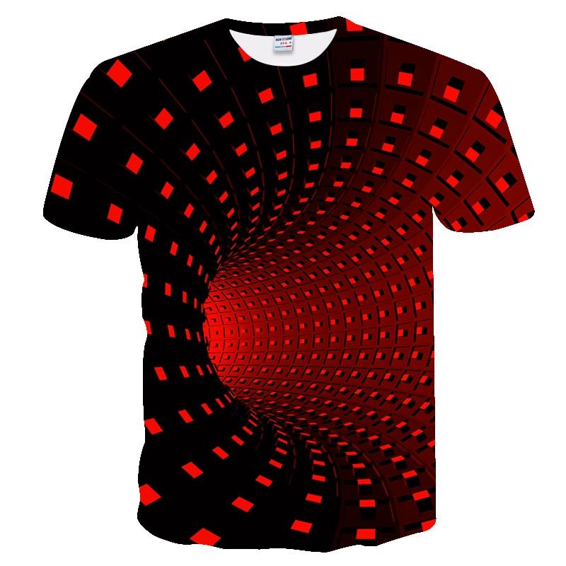 New Men T-shirt Casual Short Sleeve Fashion Funny Printed 3D Tshirt Men/woman Tees High Quality Red Black Tshirt Hombre 2019
