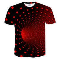 Nueva camiseta casual de hombre de manga corta de moda divertida impresa 3D camiseta hombres/mujeres camisetas de alta calidad Rojo Negro camiseta hombre 2019