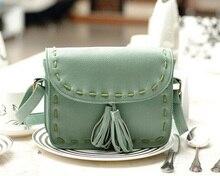 Valentine bags  Women Vintage Shoulder Bags Tassel decoration Sod women leather handbags women messenger bags