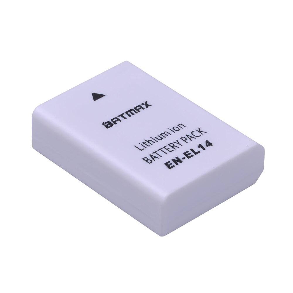 1 unid 1200 mAh EN-EL14 EN EL14 ENEL14 batería de la cámara para Nikon D3100 D3200 D3300 D5100 D5200 D5300 D5500 DF p7000 P7100 P7700 P7800