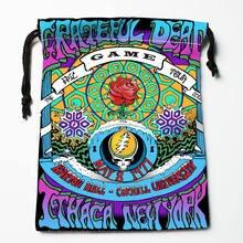 High quality Custom Grateful Dead printing storage bag drawstring bag gift Satin bags 27x35cm Compression Type Bags