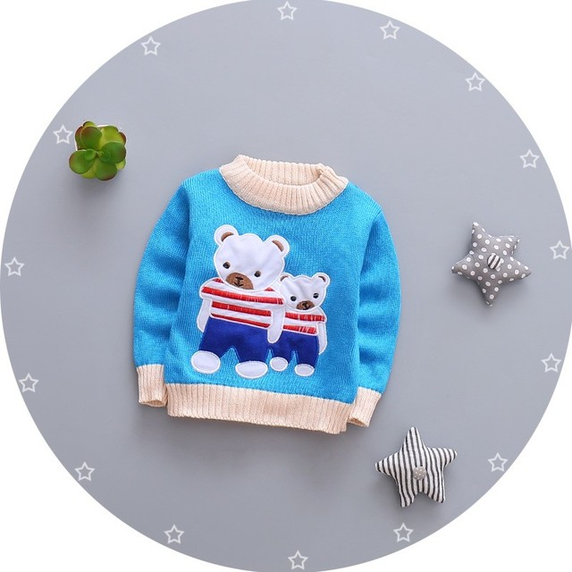 2017 Spring Autumn Kids Cotton Cartoon Long Sleeve Sweaters For Boys Girls Baby Fall Sweater Knit Clothing
