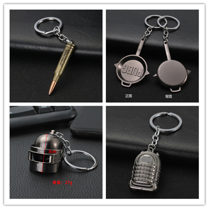 1PUBG Playerunknown's Battlegrounds Chaveiro Weapons Llaveros Model Keychain Metal Alloy Holder For Souvenir Cosplay Props Key Ring