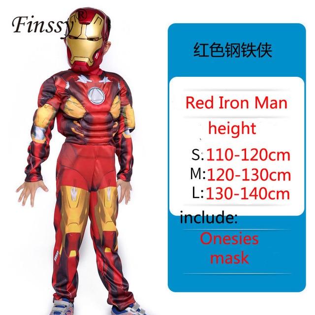Halloween Christmas Theater Performance Costume New Year Birthday Gift Avengers Iron Man Children's Cosplay Costume