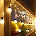 4 m x 0.25 m/0.45 m/0.65 m 140SMD Ondulado Cortina de Hadas de la Secuencia de la Tira LED de Vacaciones de Navidad luces 28 unids 5 cm Bolas Decoración de La Boda de La Lámpara