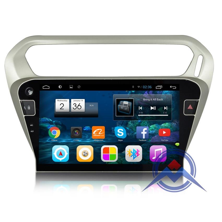 imágenes para 10.2 pulgadas Android 6.0 RAM 2 GB de Coches Reproductor de DVD para Elysee Citroen peugeot 301 2014 + GPS BT Radio estéreo canbus