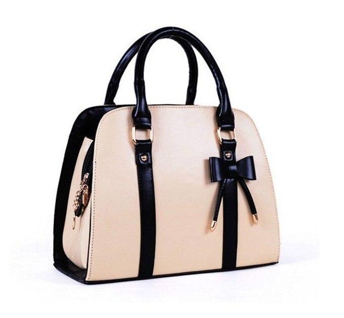66cec3e5bb new fashion style lady handbag little bow beige