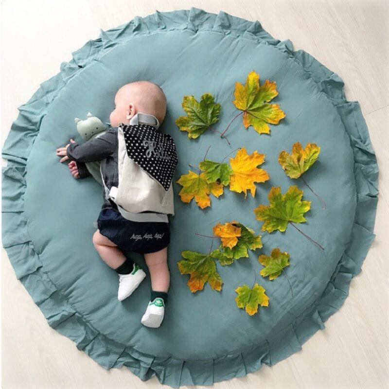 Tapete do bebê infantil playmat ruond algodão rastejando esteira crianças jogo tapetes sala de crianças tapete decorativo esteiras foto adereços