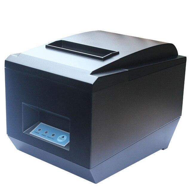 Pos принтер Высокое качество 80 мм термальный чековый, маленький билет, принтер штрих-кода ZJ-8250 автоматической резки Принтер скорость Печати Быстро