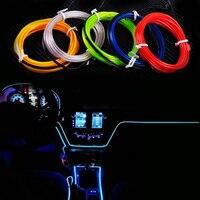 New 2M EL Wire Flexible Led Neon Strip Cold Light Strip Rope Tape 12V Car Interior