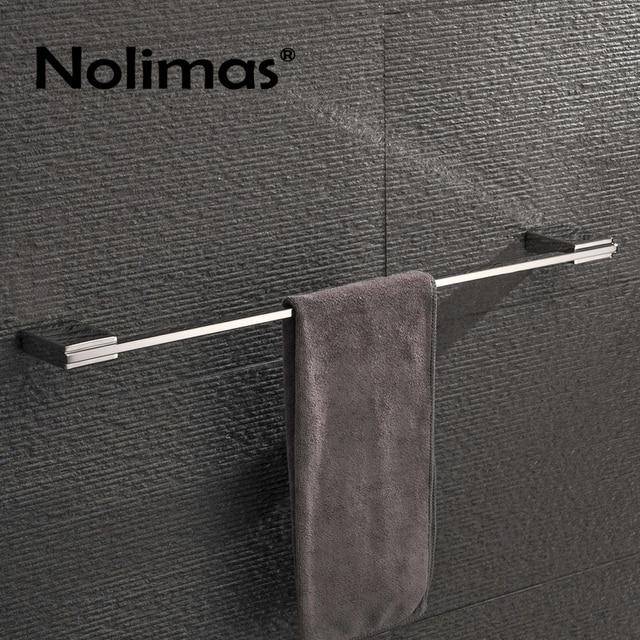 spiegel gepolijst sus 304 rvs singletowel bar vierkante handdoekenrek wandmontage handdoekhouder badkamer accessoires