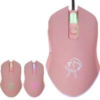 Красивый защитник Сейлор Мун высокого качества розовый Hello Kiy USB Проводная мышь девочка симпатичная мышь из мультфильма оптическая KT кошки-м...