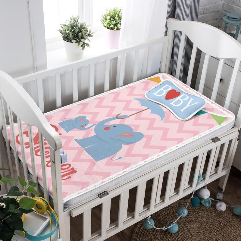 2 Stuks Zomer Wieg Hoeslaken Zachte Baby Bed Matras Cover Protector Cartoon Pasgeboren Beddengoed