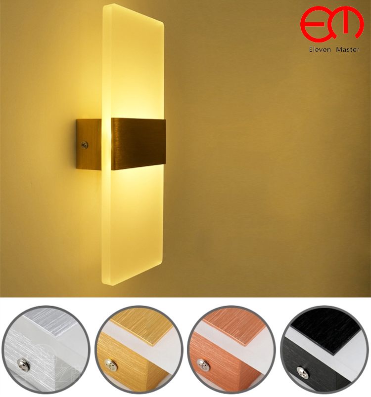 Lighting Basement Washroom Stairs: Acrylic 6W Led Wall Light UP & Down LED Stair Bedside Lamp
